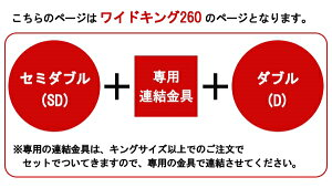 パネル型ラインデザインベッドWK260(SD+D)SGマーク付国産ポケットコイルスプリングマットレス付