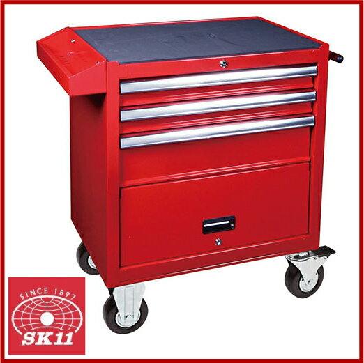 SK11 工具箱 キャスター付 キャビネット RC-004R [ツールボックス 工具入れ おしゃれ]:S.S.N