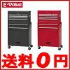 藤原産業E-Value工具箱キャスター付キャビネットチェストETR108R(BK)