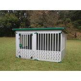 犬小屋 中型 大型犬 スチール製 ドッグハウス 屋外 1.0坪タイプ DFD-2