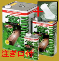 ノンロット205N屋外用油性木部保護含浸塗料着色系14L(一斗缶サイズ)