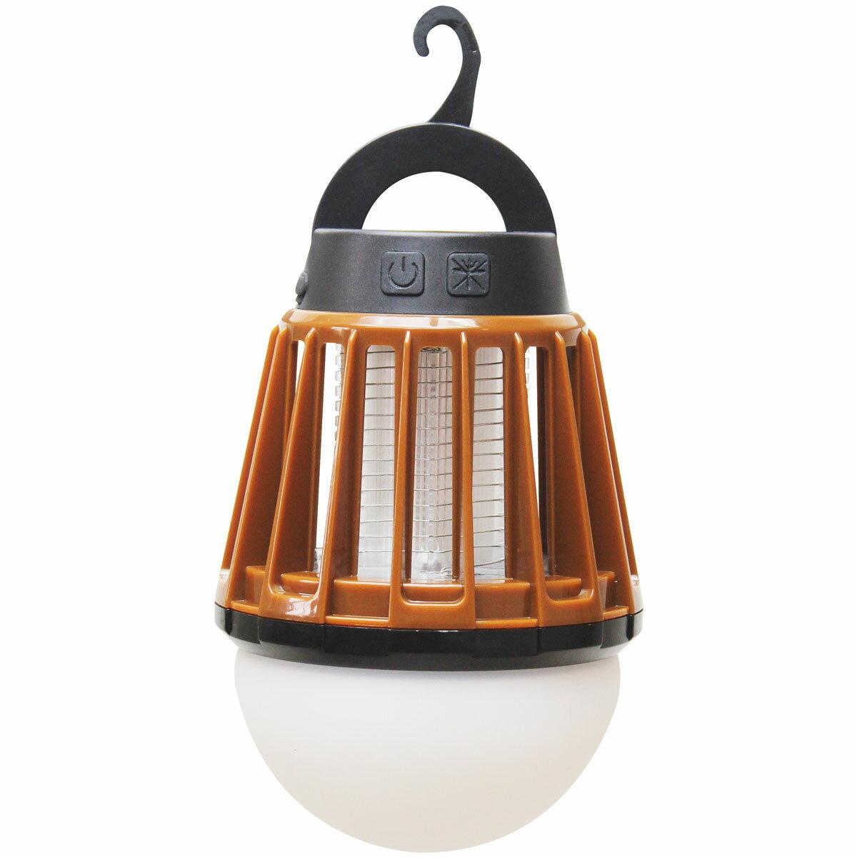 【送料無料】 Field to Summit モスキートガードランタン ブラウン 暖色LED OFLANMBR 充電式 LED 吊り下げ 電撃殺虫
