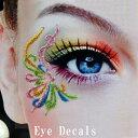 ハロウィンタトゥーシールアイメイクシール顔装飾eye decals,タトゥーシール,アイメイクシール,小物パー...