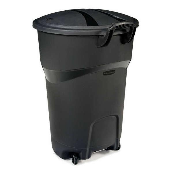 Rubbermaid 32GallonTrash Can Black キャスター付き・アメリカ・ごみ箱・ゴミ箱・ラバーメイド・32ガロン・トラッシュカン・バケツ・特大