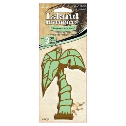 Island adventures Coconut Key Lime Air Freshener 3個入り ココナッツ キー ライム・芳香剤・車・ヤシの木・椰子・南国・車・アメリカ・ペーパーフレッシュナー・エアーフレッシュナー画像