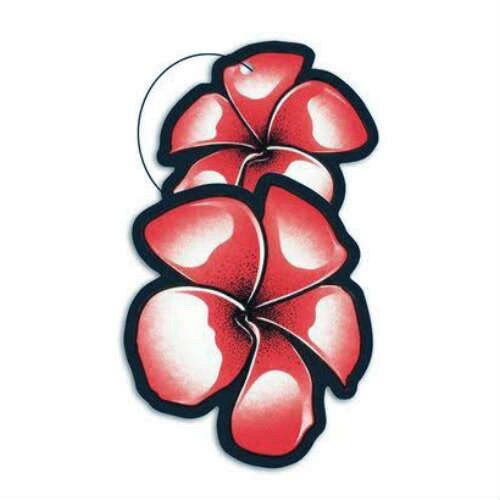 Island adventures Strawberry Breeze Air Freshener ストロベリーブリーズ・芳香剤・車・プルメリア・イチゴ・苺・南国・車・アメリカ・ペーパーフレッシュナー・エアーフレッシュナー画像