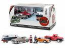MOTOR WORLD GULF OIL VINTAGE GAS STATION DIORAMA + 5 CARS 1/64 SCALE DIECAST MODEL ミニカー・アメリカ・USA・アメ車・ガルフ