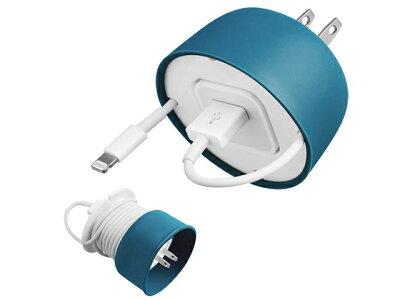 QuirkyPowercurlMiniiphoneUSBcableandpoweradapter電源アダプターとUSBケーブルのコードラップ・アイフォン・コード・収納・便利グッズ