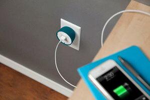 QuirkyPowercurlMiniiphoneUSBcableandpoweradapter電源アダプターUSBケーブルコードラップアイフォンスマホコード収納便利グッズ収納すっきり旅行出張