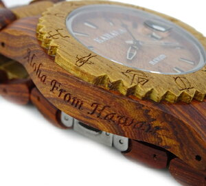 KAHALAWOODENWATCH#6レディースモデルハワイアン・コアウッド・木製・アクセサリー・腕時計・ハワイ・Hawaii・hawaii・ロコ・ウッド
