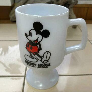 Federal Footed Mug Mickey Mouse White タイプ2 フェデラル フッテッド マグ ミッキーマウス マグカップ ホワイト 中古 海外輸入中古品 マグカップ USA ビンテージ アメリカ ミルクグラス ディズニー Milk Glass ミルクグラス・