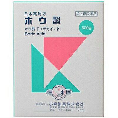 小堺製薬 日本薬局方 ホウ酸 500g ( 第3類医薬品 )