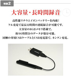 2016年最新モデルADVANCEペン型ボイスレコーダー12時間連続録音8GBメモリ1年保証ペンボールペン多機能小型高音質長時間USBUSBメモリmp3プレーヤー録音機ボイスレコーダーICレコーダーIC-003S