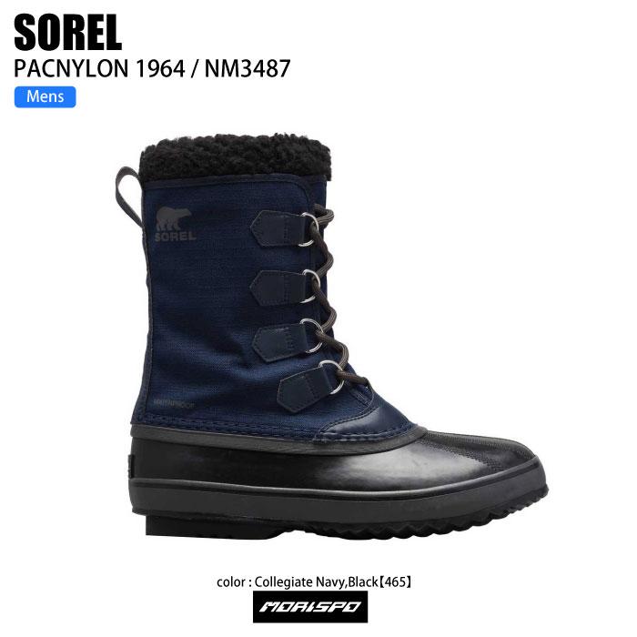 メンズ靴, スノーシューズ SOREL 1964 PAC NYLON 1964 NM3487 465 COLLEGIATE NV BK ST