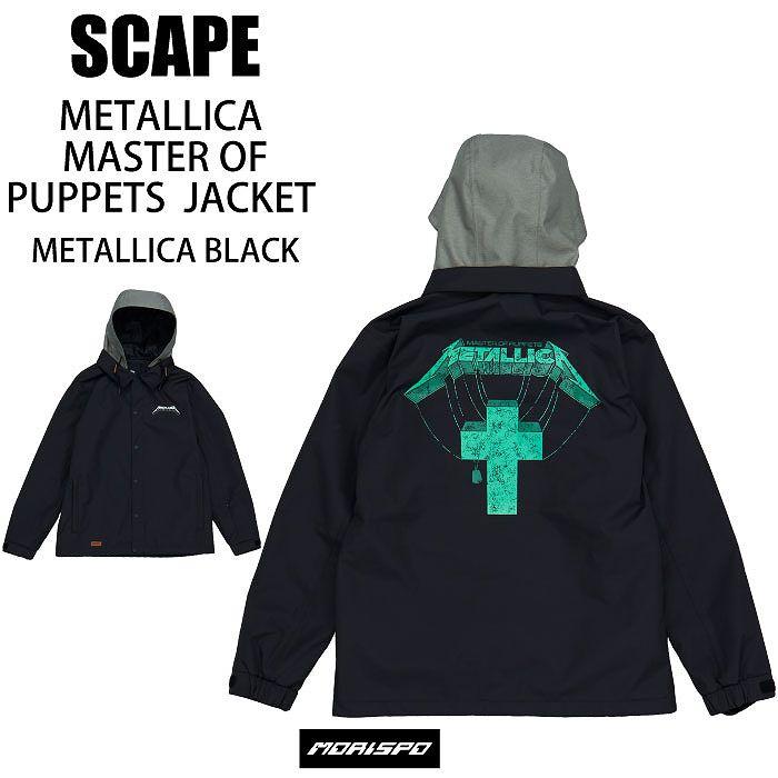 メンズウェア, ジャケット SCAPE MATALLICA MUSTER OF PUPPETS JACKET 20-21 BLACK ST