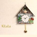 【ステンドグラス】森の小鳥時計