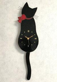 ネコ時計(黒猫)