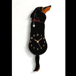 作家手作りのオリジナルステンドグラス【犬】【時計】【振り子時計】【ガラス】イヌ好きのあな...