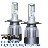 LEDヘッドライト H4 爆光 HiLow H1 H3 H7 H8 H11 HB3 HB4 7600Lm(ルーメン) 36W 6000K コンパクトファン冷却 フォグランプ ハイビーム 返金保証付
