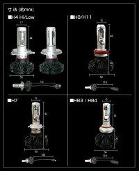 (車検対応返金保証)LEDヘッドライト(H4HiLowH7H8/H11HB3/HB4)高性能フィリップスチップ搭載(ファンレス仕様)3色カラーチェンジ可能50W6000ルーメン高輝度LED