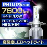 お買い物マラソン (返金保証付き)LED ヘッドライト(H4/H1/H3/H7/H8/H11/HB3/HB4) 高性能フィリップスチップ搭載(7600ルーメン) 36W 6000K スリムコンパクト フォグランプ ハイビーム