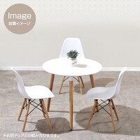 丸型カフェテーブル(直径80cm×高さ75cm)ダイニングテーブルオフィスリビングおしゃれ机シンプル円形ホワイト白