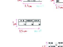 【メール便OK!】手帳スタンプ・ダイエットの記録