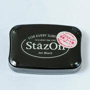 お買い得 スタンプインクパッド ステイズオン ジェット ブラック スタンプ オリジナル