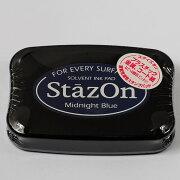 お買い得 スタンプインクパッド ステイズオン ミッドナイト スタンプ オリジナル