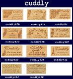 通常価格850円→500円cuddlyスタンプ(2×4cm)ハンドメイド・手芸用タグスタンプ