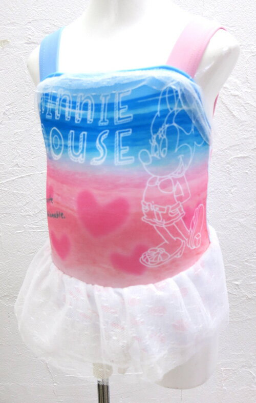 2015春夏新作!Disneybabyディズニーベビーディズニープリンセスチュチュつきワンピース水着ミニーアリエルデイジースイムスーツスイムウェア水泳プール海紫外線熱中症防止UV対策日焼け予防【あす楽対応】