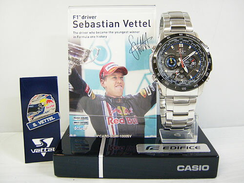 """CASIO """"EDIFICE"""" EQW-M1000SV-1AJR Sebastian Vettel Limited Edition [カシオ エディフィス クロノグラフ!]:PHOTOGENIQUE"""
