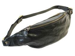 【IMEDICI】イタリアンレザーラージファニーパックウエストバッグ