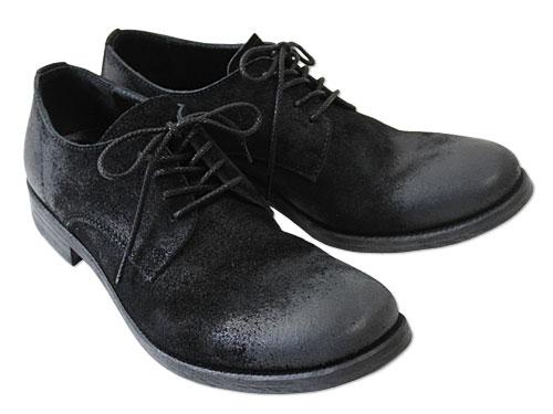 PADRONE #PU-PHOT-1020 Suede Low Cut Shoes ブラック [パドローネ スエードシューズ 外羽根短靴 革靴]:PHOTOGENIQUE