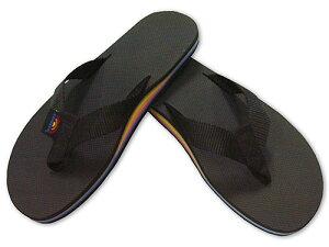 レインボーアーチが目印。RAINBOW Sandals Limited edition ブラック/レインボー[レインボービ...