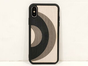 "WOOD'DSnap-on iPhone Cover""6/7/8/X/XS""GREY SPLITMade in ITALY.[ ウッド 天然木 寄木風 木パズル風 iPhoneカバー イタリア製 iPhoneケース ]"