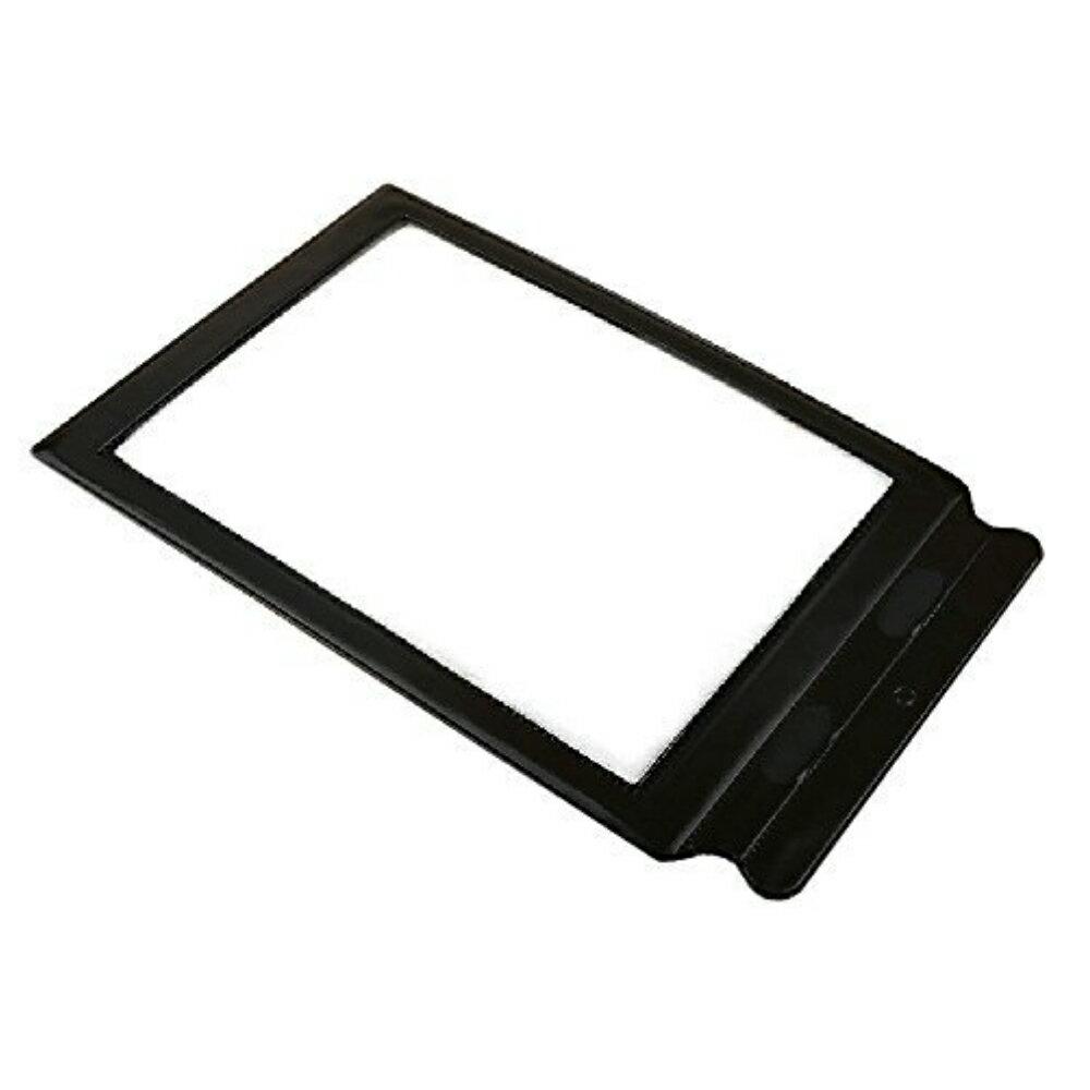 【追跡番号付き】 シート ルーペ 拡大鏡 A4 サイズ 文字 3倍 拡大 持ち手付 黒 ブラック ペラペラ 薄い 挟める