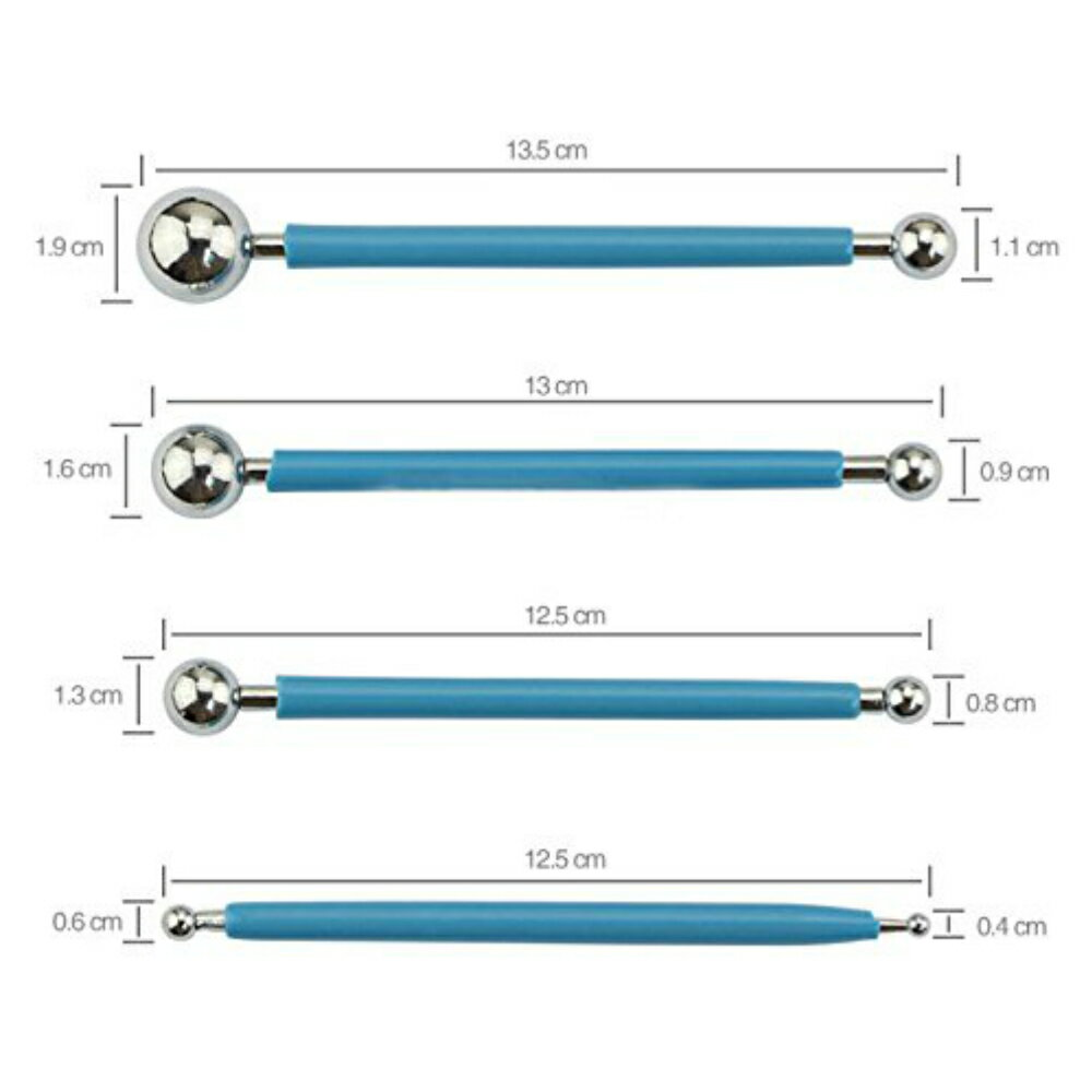 【追跡番号付き】 4本セット 8タイプ 粘土 細工 クレイ 丸 棒 お手入れ用 クロス セット 道具 ヘラ