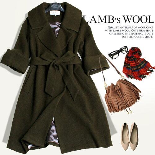 ラムウールを使用した贅沢な素材感のニットコート[NO.10-72-82(WT-19)]●カ...