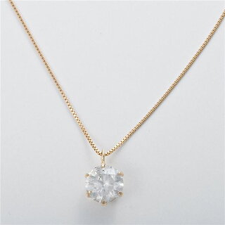 K181ctダイヤモンドペンダント/ネックレスベネチアンチェーン