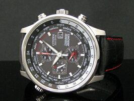 イギリス空軍レッドアローズ×シチズン逆輸入エコドライブクロノグラフレザーベルトウォッチ腕時計CITIZENECO-DRIVECA0080-03E