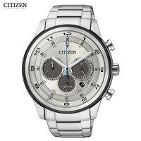 CITIZENECO-DRIVECA4034-50Aシチズン逆輸入エコドライブクロノグラフメンズ腕時計ウォッチシルバー
