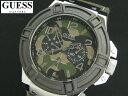 2014年最新!日本未発売 GUESS W0407G1 ゲス デイデイト ウォッチ 腕時計 時計 メンズ 男性用 ミリタリー 迷彩【送料無料】【代引手数…