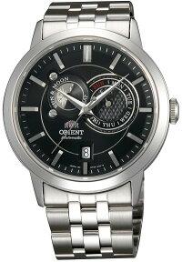 ORIENTFET0P002Bオリエントサン&ムーン太陽月自動巻オートマティックメンズウォッチ腕時計メタルベルトブラック