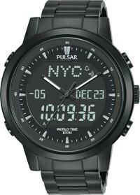SEIKOセイコーPULSARPZ4061X1パルサーデジタルワールドタイムアラームクロノグラフデジタルメンズウォッチ腕時計【送料無料】