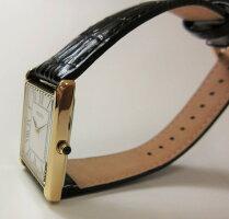 日本未発売セイコーSEIKOSFP608P1逆輸入メンズレザーウォッチゴールド角スクエア薄型