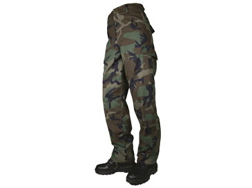 ≪お買い物マラソン中 ポイント3倍対象商品≫TRU-SPEC MEN'S BDU Zipパンツ WL(Woodland)