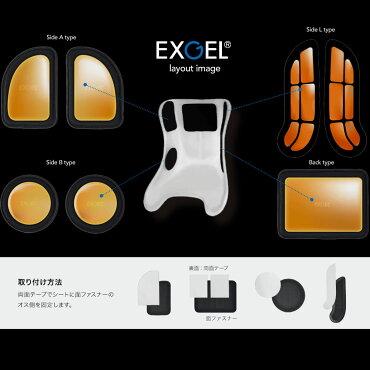 EXGEL/エクスジェルシートパッド17サイドLタイプレーシングカートパーツ
