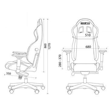 スパルコゲーミングチェアICON/アイコンオフィスチェアリクライニングバケットシート座椅子耐荷重100kgSparco