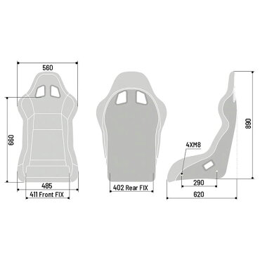 スパルコフルバケットシートEVOQRT(エボ)FIA公認Sparco